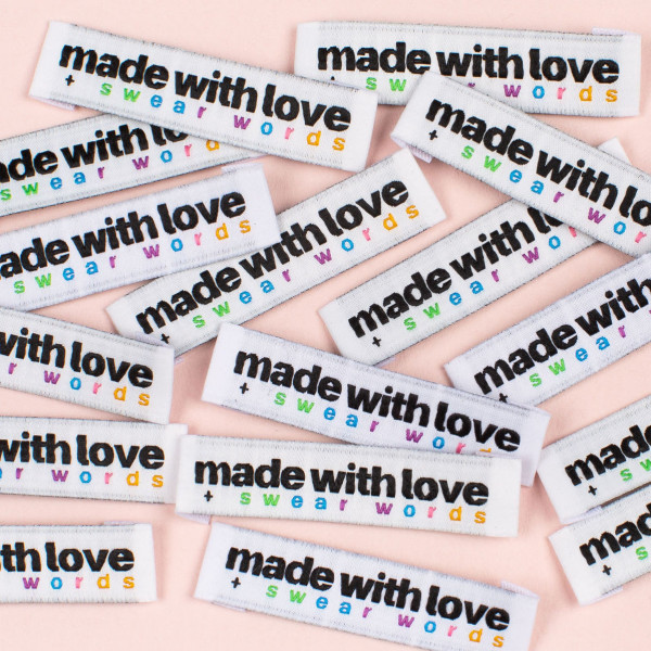 """Label Set """"made with love + swear words"""""""