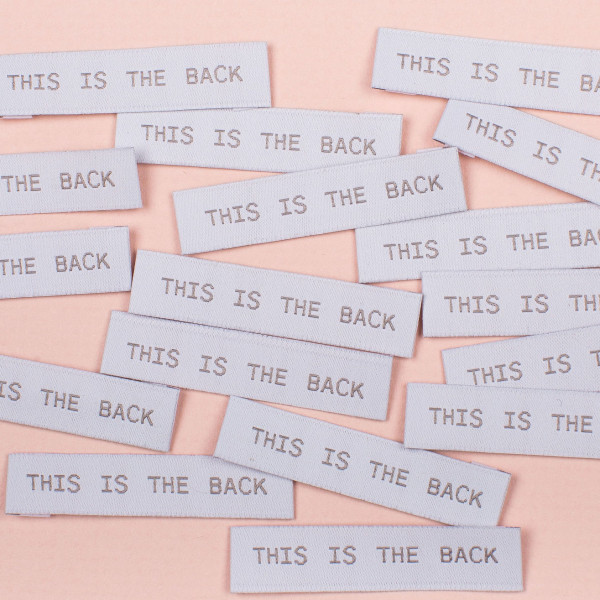 """Label Set """"this is the back"""""""