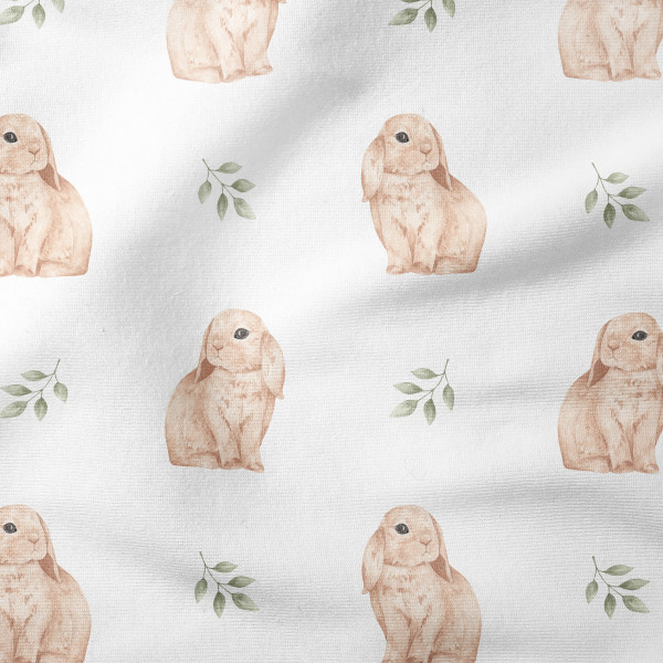 French Terry - Bunny White - Reststück 1m