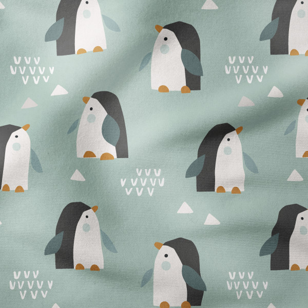 French Terry - Pinguine mint