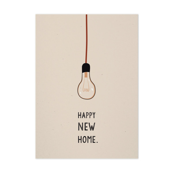 "Postkarte ""Happy New Home"""