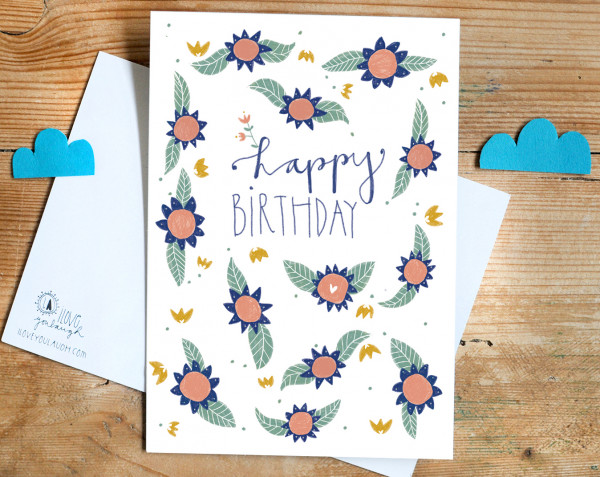 "Postkarte ""Happy birthday"" - Iloveyoulaugh"